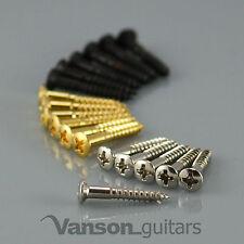6 X Nuevo Vanson de cabeza avellanada Puente Tornillos Para Tele ® * / Puente Fijo Guitarras