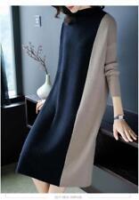 Elegant Ladies Long Sleeves Fashion Womens Wool Blend Chic Casual Sweater Dress