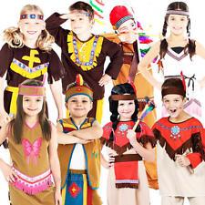 Native American Indian Kids Costume WILD WEST Libro Settimana Ragazzi Ragazze Costume