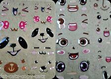 Ojos Funny Faces hinchado Pegatinas 3D Artesanales Animal cerdo ojos, nariz, boca expresiones