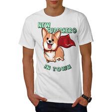 Corgi Superhero Men T-shirt NEW | Wellcoda