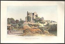 TALMONT (85) RUINES DU CHATEAU IMAGE EN COULEURS 1903