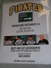 Signed Pgh Pirates 2011 Caravan Poster McCutchen Lincoln Blass Leyva @ Galleria