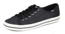 Keds Women's Black Glitter Kickstart Wool Sneaker Shoes Ret $60 New