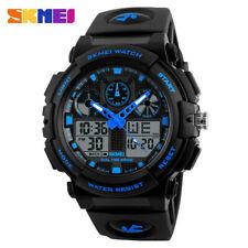 SKMEI Men Sports Watches Quartz LED Digital Male Military Wristwatch Shockproof