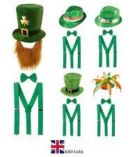 ST. PATRICK`S DAY FANCY DRESS COSTUME Irish Party Clover Boys Accessory Lot UK