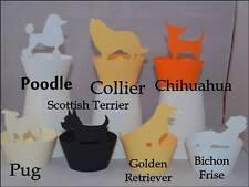 Tema de los perros Cupcake Wrappers x12 única manera de exhibir Cupcakes