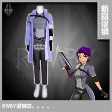 RWBY NDGO Nebula Violette Fighting Uniforms Purple Coat Cosplay Costume Full Set