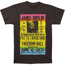 Janis Joplin Men's  Freedom Hall Poster Slim Fit T-shirt Coal