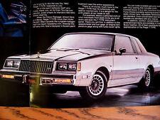 1983 Buick T-Type Brochure Regal Riviera Century