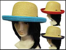 new Summer Fashion  Women Retro Trendy Bowler Derby straw Hat floppy fedora cap