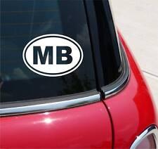 MB MYRTLE BEACH SOUTH CAROLINA DECAL STICKER ART CAR WALL EURO OVAL