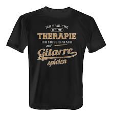 Therapie Gitarre Herren T-Shirt Spruch Geschenk Idee Gitarrist Gitarrenspieler