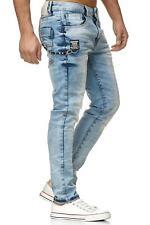 Redbridge Herren Jeans Hose Jeanshose Mens Denim Pants Destroyed Denim Hellblau