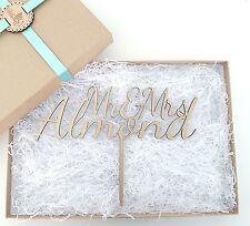 Grande Personalizado De Madera Wedding Cake Topper-el Sr. & sra.