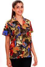 Funky Hawaiibluse Jungle Schwarz verschiedene Größen Hawaiishirt