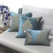 Pillowcase Blue Elegant European Chenille Jacquard Cushion Cover Home Textiles