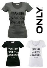 Only T-Shirt Name Ex Top Gr. XS, S, M, L 3 Farben NEU