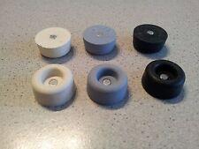 Gummipuffer mit Magnet (HK = 630 g)  21Øx10 schwarz, grau, weiss / VPE=2 St