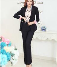 Traje conjunto de mujer negro anorak manga larga y pantalones código 7046
