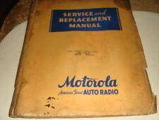 VINTAGE 1935 1936 MOTOROLA AUTO RADIO SERVICE MANUAL