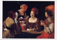 """POSTCARD Georges La Tour """"Le Tricheur"""" The Cheater Baroque Card Players"""
