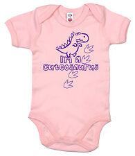 """divertente dinosauro Body bebè """" I'm a cuteosaurus """" tutina body regalo neonato"""