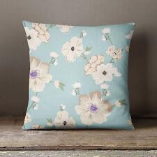 S4Sassy Home Decorative Floral Printed Light Blue Cushion Cover -PAR-SUB-SAS50C