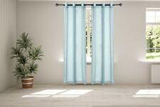 Legacy Decor Chiffon Window Sheer Curtains 2 Panels Grommet Top Sky Blue Color
