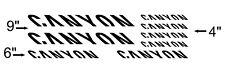 Canyon Bikes Frame Decal Set. Pick Your Color. USA Seller!