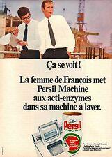 PUBLICITE 1969  Lessive PERSIL et ça se voit