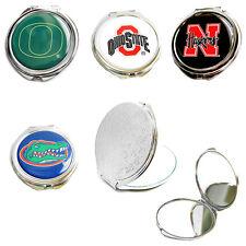 compact mirror glitter or logo travel purse NCAA
