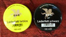 (5,95€/100ml) B&E Lederfett Lederpflege Leder Fett Pflege Schutz Imprägnierung