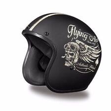 2016 Flying Aces Daytona 3/4 Cruiser Motorcycle Helmet FREE SHIP! Harley Style