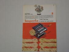 advertising Pubblicità 1964 MACCHINA PER PASTA IMPERIA