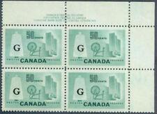 CANADA 1961  #O38  Textile   MNH Inscription Block