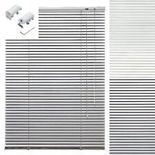Aluminium Jalousie Alu Jalousette Weiß Silber Tür Fenster Klemmfix Rollo Plissee
