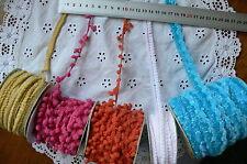 POM POM Style 6 Colours 9-17 mm Wide 3 Metre Lengths Webster Polyester MultiList