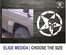 Estrella militar Punisher (TT149) Star Military Vinilo Pegatina Vinyl Decal