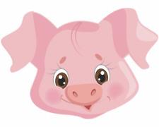Tiergesicht Schwein Aufkleber Sticker Autoaufkleber Scheibenaufkleber