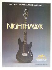 retro magazine advert 1983 G & L nighthawk guitar