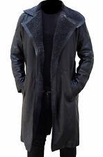 Blade Runner Ryan Gosling Officer K Fur Lapel Collar Trench Leather Coat