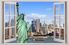 Adesivi Murali Finestra Effetto 3D NEW YORK NY decorazioni murali 06