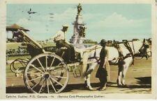 Vintage POSTCARD c1948 Caleche QUEBEC, CANADA Horse Carriage