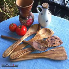 Küchenhelfer Auswahl aus Löffeln, Pfannenwender Risottolöffel, Olivenholz, Holz