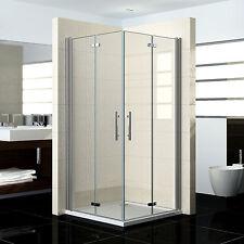 80x80x195cm Cabine de douche accès d'angle Porte de douche pivotante pliante