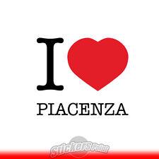adesivo I LOVE PIACENZA sticker PVC auto moto - Alta Qualità 2 colori