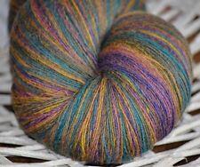 100% Schurwolle Tücherwolle Schafwolle Wolle Lace Strickgarn handgefärbt *516*