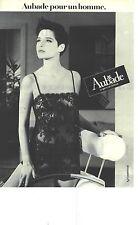 PUBLICITE ADVERTISING  1985  AUBADE lingerie body vetements de nuit