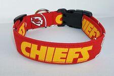 Kansas City Chiefs NFL Terri's Dog Collar custom made adjustable m/w fabric